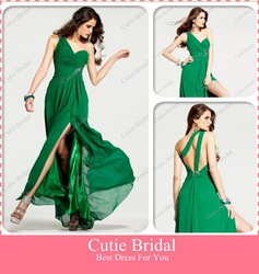 CSPD144 Fast delivery sweetheart one-shoulder slit Graduation Dresses(China (Mainland))