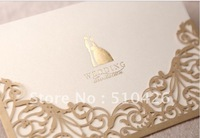 Wedding invitation card, bride dress, wedding cards, CW1016, include envelope and customised printing, free shipping