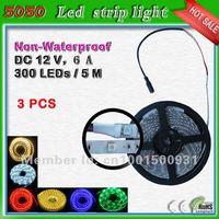 free shipping SMD5050 LED light strip_5 meter 300 leds led ribbon 60 leds/m