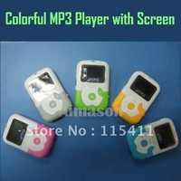 Necklack Digital MP3 Player Speaker Mini MP3 music Players 1.1 inch OLED Screen K7 20 Pieces/Lot