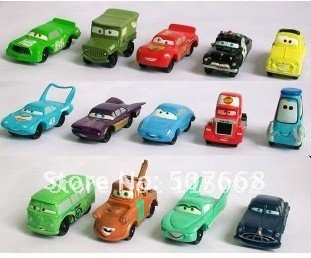 Wholesell 5set High Quality PVC 14 pcs/set Pixar Car Figures Full Set for Gift