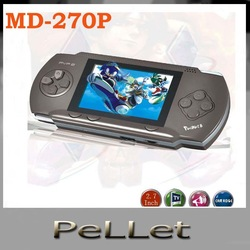 Video game machine Console portable with many classical games handheld SEGA 16-bit MD-270P free shipping(China (Mainland))
