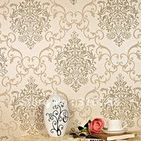 High-grade non-woven European Damascus wallpaper wallpaper the sitting room the bedroom TV setting wall paper
