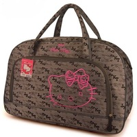 Free shipping, Hello kitty travelling bag large size luggage bag Cartoon handbag Kitty travel bag travel duffle