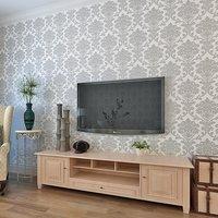 European Damascus X65403 deep embossing sitting room TV setting bedroom wallpaper