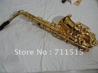Factory wholesale E flat alto saxophone musical instrument surface golden