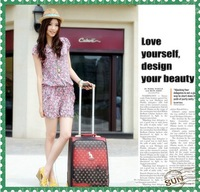 free shipment 20 inch travelling suitcase Fashion case small trolley luggage travel bag luggage bag suitcase