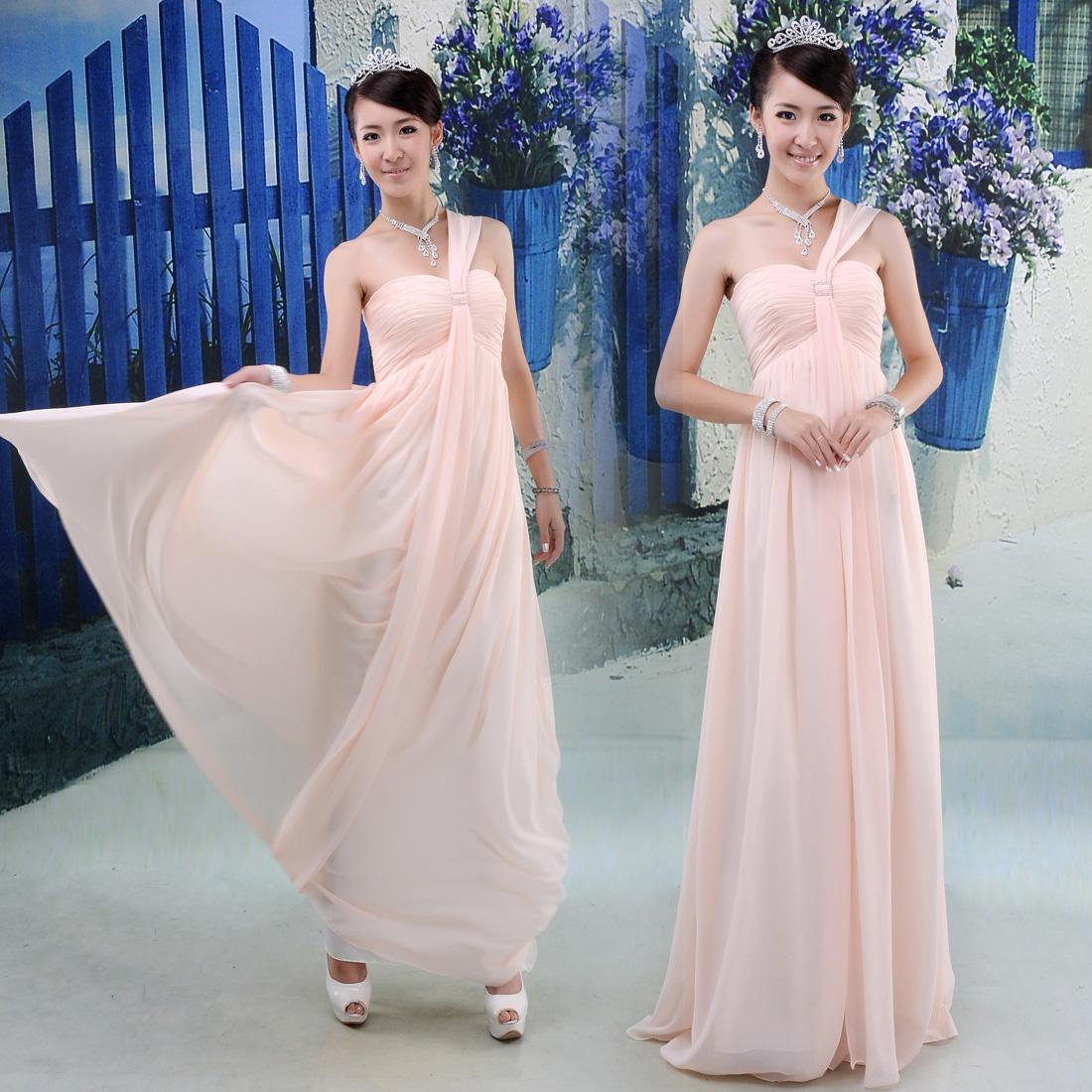 Bridesmaid dress short design wedding dress marriage bride wine pink