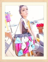 Free shippingbags Handbags Fashion Colorful Style Satchel Womens Vintage Shoulder tote Bag Lady