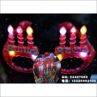 free shipping 9pcs/lot Birthday candle flashing glasses birthday gift birthday props