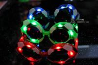 free shipping 9pcs/lot football flashing glasses led glasses fans gifts masquerade masks
