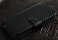 Black Luxury High Leather Wallet Card Holder Pouch Case Cover for iPhone 5 5G