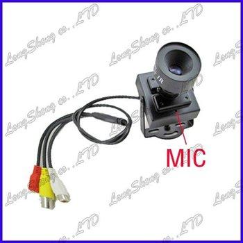 Mini 1/3 Inch Sony CCD 16mm Lens Board security Color Camera Audio 15 Degree AOV