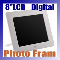 Free shipping , New Frosting 8 inch LCD TFT  Multifunctional Picture Digital Photo Frame with MP3/MP4 Player