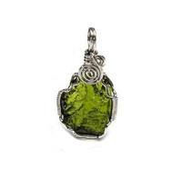 Moldavite pendant crystal stone radiant energy