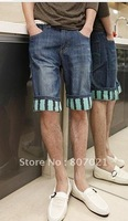Summer 2012 paragraph after han tide fashion pocket cartoon figure male bull-puncher knickers man five minutes of pants