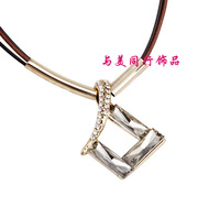 Fashion elegant rhombus crystal necklace Women pendant