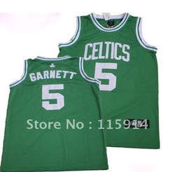 Free Shipping 2012 New Breathable Quick Dry NO.5 Green Garnett Celtics Basketball clothes/Anti-Shrink/Anti-Pilling(China (Mainland))
