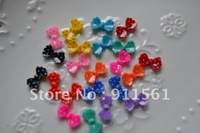 Free shipping! very hot and kawaii resin bow resin embellishments for DIY phone decoration mixed 110pcs