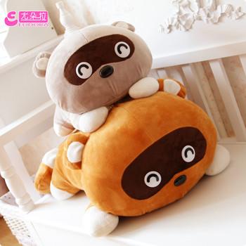 free shipping export Dora little raccoon tare panda plush toy bear  pillow kaozhen dolls Christmas gift
