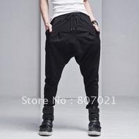 Han2 ban3 leisure span pants low crotch pants men's trousers han2 ban3 tide