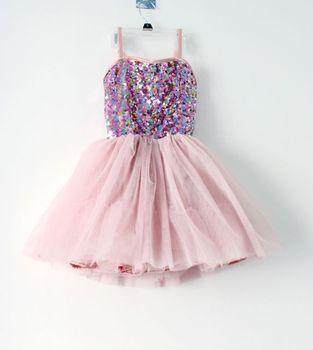 Retail Kids summer dress, older girls purple sequin tutu ballet dress, strip dance dress 3T-16T free shipping