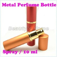 10ml spray metal perfume bottles empty small perfume refillable atomizer bottle container free shipping wholesale #0384
