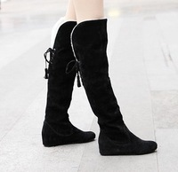 New arrival boots knee-length boots back strap elevator snow boots