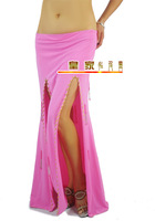 Double placketing belly dance skirt slim hip double placketing performance wear bottoms