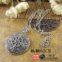 Tibetan jewelry necklace national trend handmade accessories miao silver cutout carved necklace a