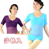 Gauze short-sleeve top belly dance training top performance wear upperwear