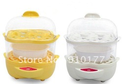 Egg boilers/boiled egg machine/ steamed eggs machine /steamed bread cooker / heating material cooker / double-deck egg boilers(China (Mainland))