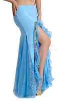 Belly dance skirt single slim hip placketing expansion skirt indian dance silver sand skirt single dress
