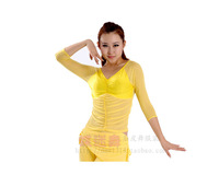 Belly dance clothes top three quarter sleeve dance upperwear indian dance leotard