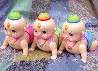 Free Shipping Electric crawling doll vocalization light infant boy baby intelligence toys 0-1 - 2 - 3 - 4