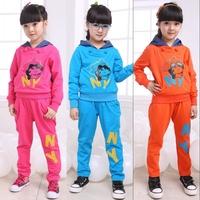 Children's clothing female child autumn child sports set female big boy casual sweatshirt set 2012 women's