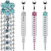 Free Shipping! Wholesale  Dangle  Navel Ring Body Piercing Jewelry Belly Ring