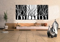 3Panels Interesting Huge Modern Painting CanvasCharmPicturePicture Superb Canvas Wall  Art Black White Tree 35 (No Frame)( pt35)