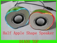 Goog Sound Quality  2.0 Multimedia Speaker with Apple Shape For PC/Laptop/Computer/ MP3/MP4 Player Free Shipping
