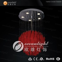Modern ceiling lighting ,modern  red glass pendant light  OWC3224  Red color Dia40cm H80cm,wholesale/retail