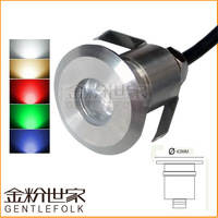 Free Shipping 12 Volt 1x3W 304 Stainless Steel Housing Waterproof Led Outdoor Lamp Underground Paving Light