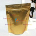 "4x6""=10x15+3cm Aluminum foil Zipper Stand Up Moisture barrier Pouch Bag gold free shipping"