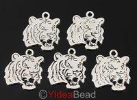 New Fashion 80pcs Antique Tibetan Silver Alloy Tiger Head Charms Pendants 21*21mm 141499