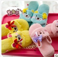 Super cute finger massage household cotton slippers female creative thick bottom indoor home slippers