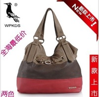 2012 woodpecker women's handbag fashion ol shoulder bag messenger bag color block