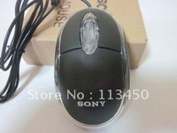 New USB 2.0 Wire Optical Scroll Wheel 3D Mini Mice Mouse LED PC Laptop Computer