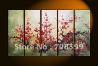 Free Shipping Wall Art  Chinese plum blossom  Home Decoration  100% Hand paintedm Oil Painting on Canvas