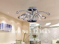 Modern Luxury Fashion Chrome K9 Crystal Ceiling Lamp Crystal Chandelier Lights Hotel Dia 100cm