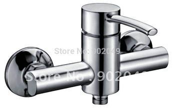 Wall Mount Basin Faucet Brass Zinc Alloy Handle Ceramic Spool Vessel Glow Polish Sink Faucet KF-6104