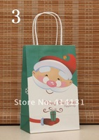 Christmas gift bag,small shopping paper bag, 21*13*8cm, 16 pattens,random delivery,free shipping